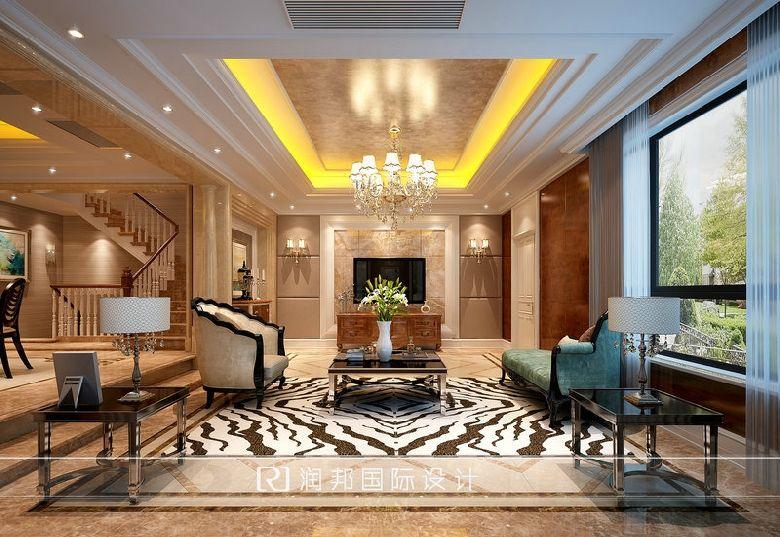 东墅山庄(英郡华府)别墅住宅欧式新古典风格客厅效果