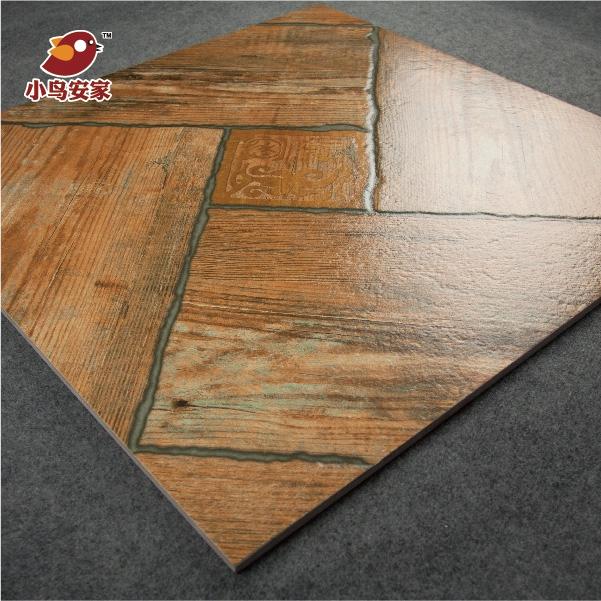 客厅卧室条形木纹砖仿实木瓷砖地砖中式拼花67055