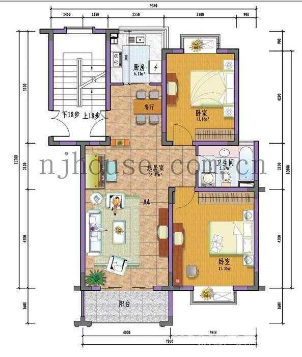 210平方房子設計圖紙展示