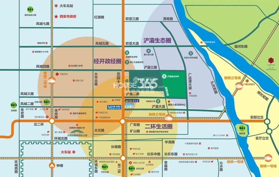 天朗蔚蓝东庭交通图
