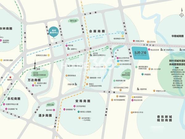 东鸿艺境交通图