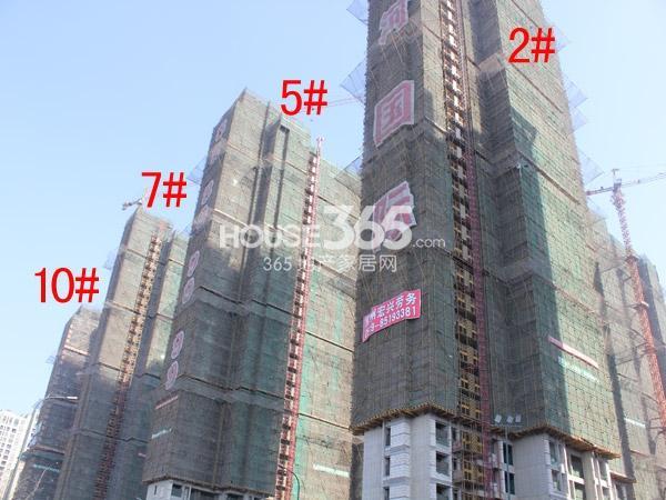 星河国际2#、5#、7#、10#楼工程进度图(2015.2)