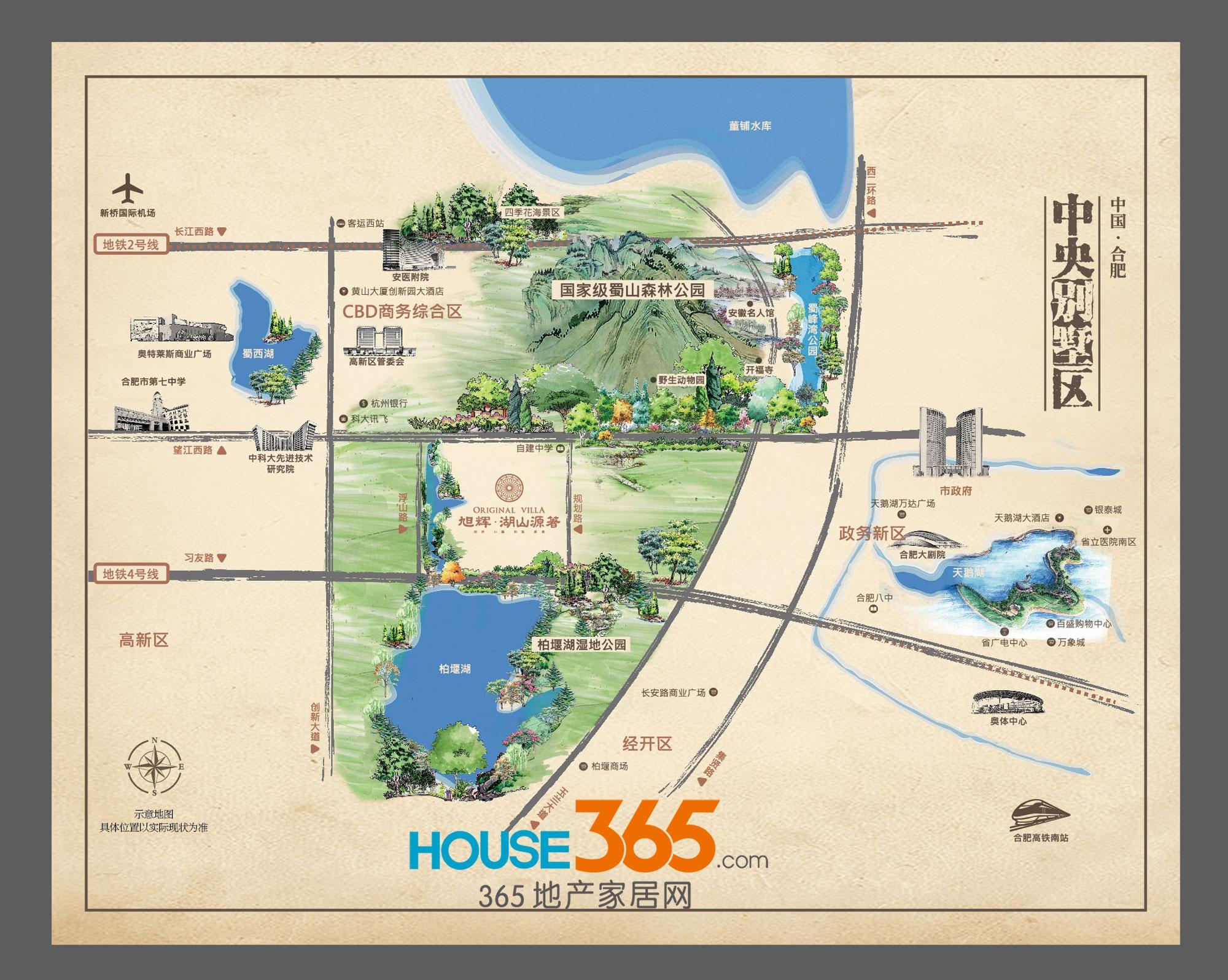 旭辉湖山源著交通图