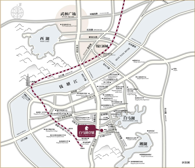 中南白马湖壹号交通图