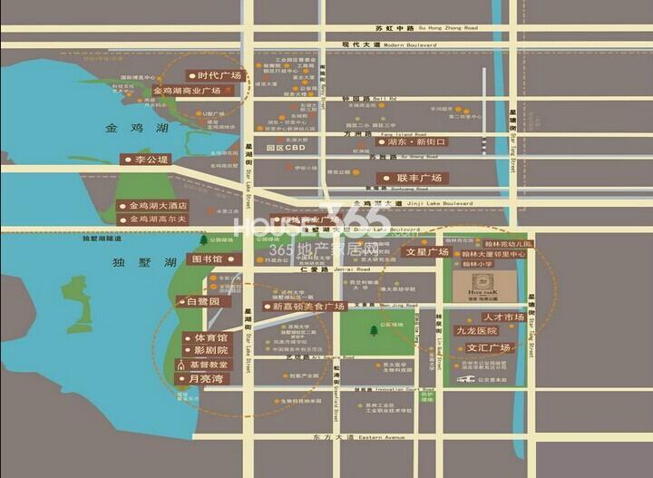 建屋海德公园交通图