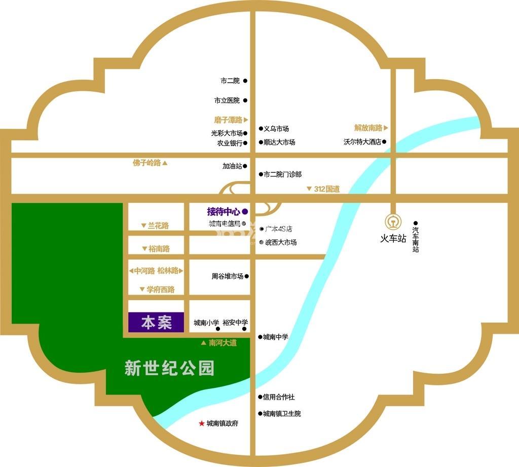 广元柏林印象交通图
