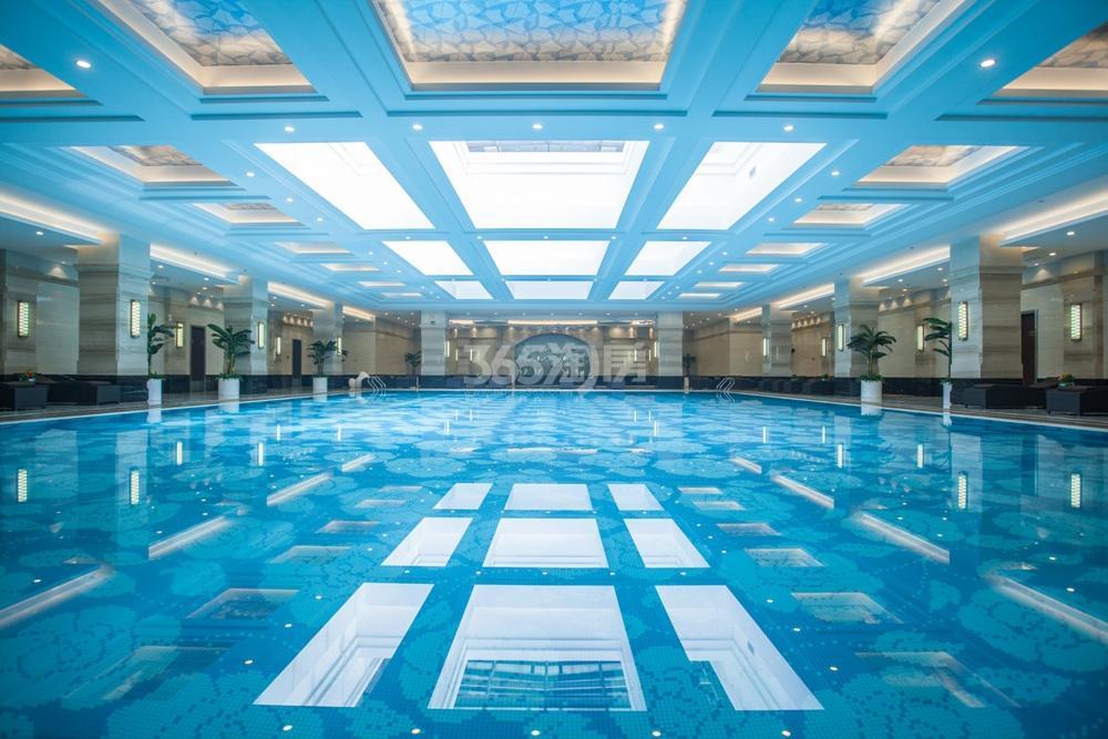 高科荣境会所泳池实景图