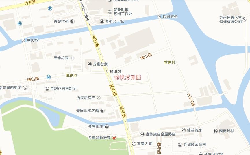 锦悦湾雅园交通图