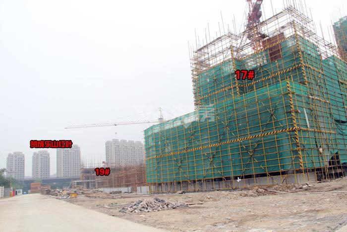 雅居乐国际花园17、19号楼施工进程图(2015.9)