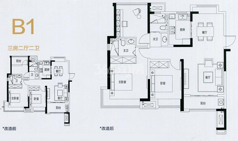 中南锦苑B1户型图