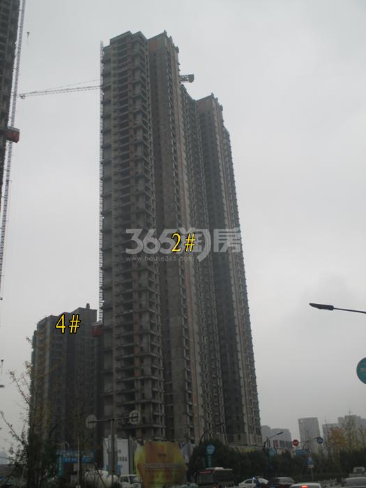 理想银泰城项目2、4号楼施工进程图(2015.11)
