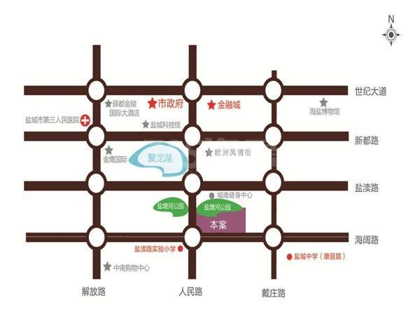 香苑东园交通图