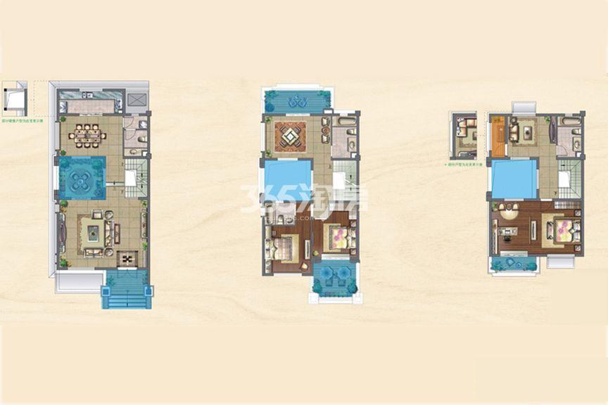 央墅B户型:4室3厅1厨2卫
