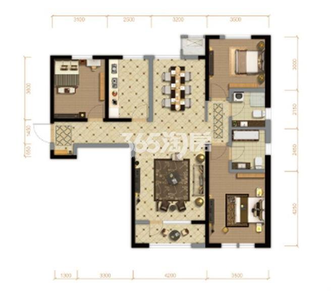 高层4号楼 139平米 3室2厅2卫