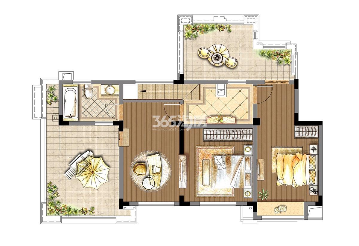 4开间洋房7-4户型六层跃层上