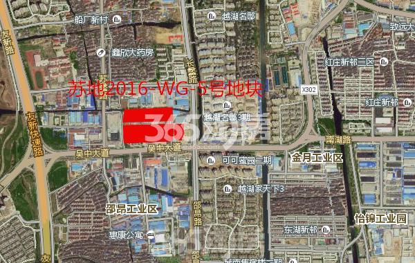 鲁能吴中大道地块方位图
