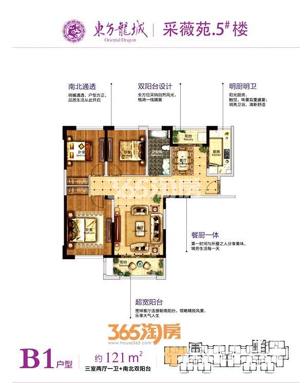 采薇苑5#楼约121平B1户型
