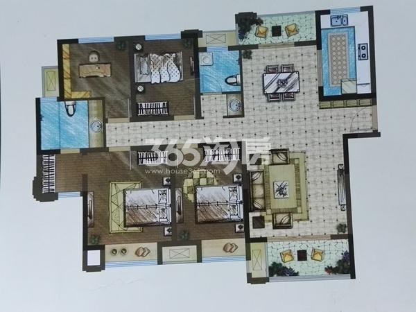 B3四室两厅两卫户型(146㎡)