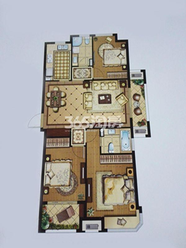 盛世孔雀城118㎡三房两厅两卫