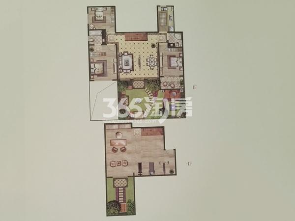 洋房1层A户型三室两厅两卫