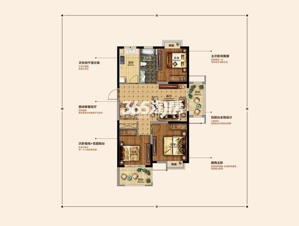 东方龙城清荷苑1#A1'户型图
