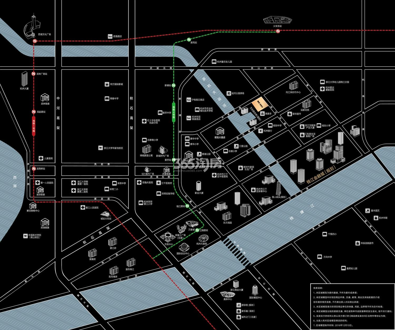 融创涌清府交通图
