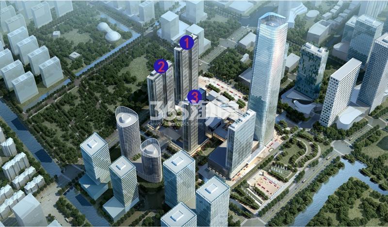奥克斯时代未来之城鸟瞰图