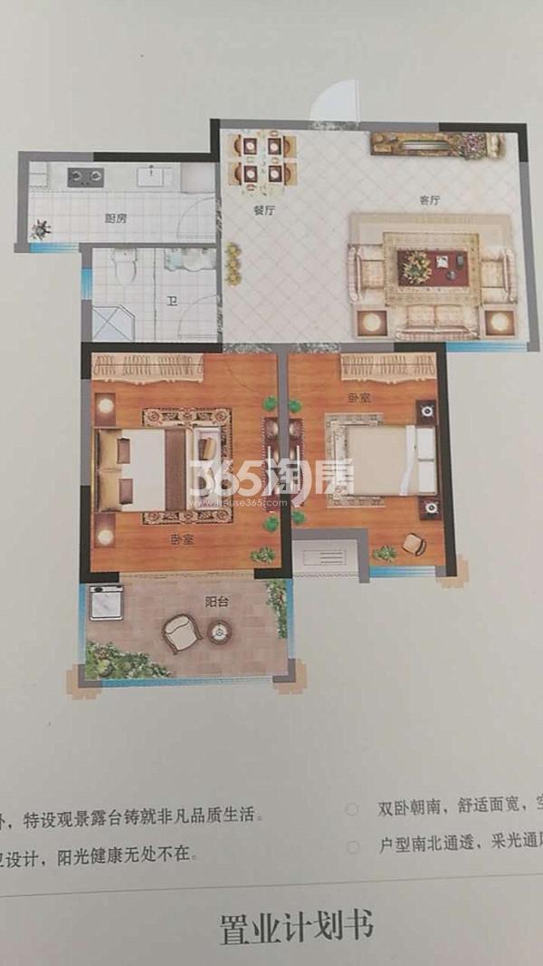 C2两室两厅户型图