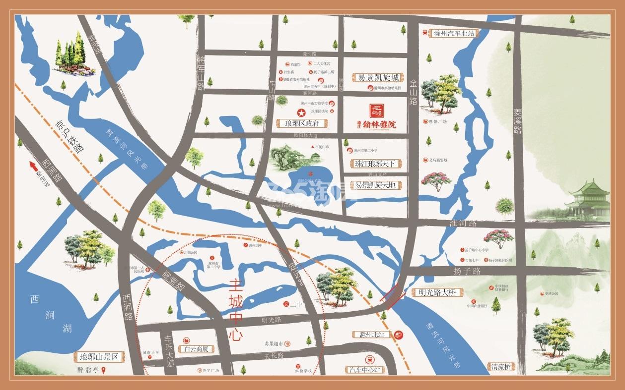 珠江翰林雅院交通图