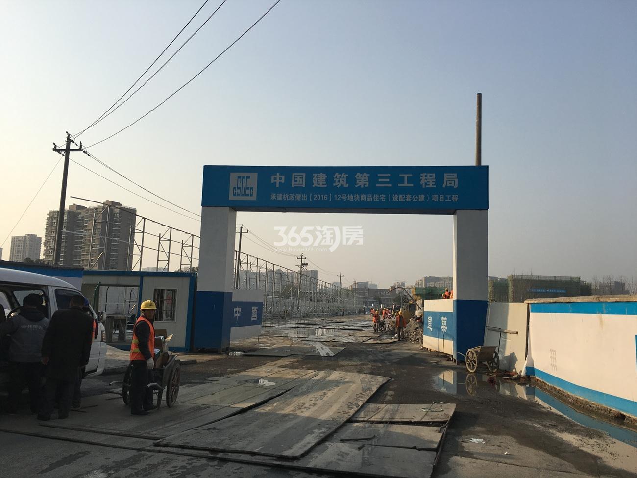 2017年3月首开杭州金茂府工地现场