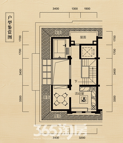 中海央墅A4F户型图(380-510㎡)