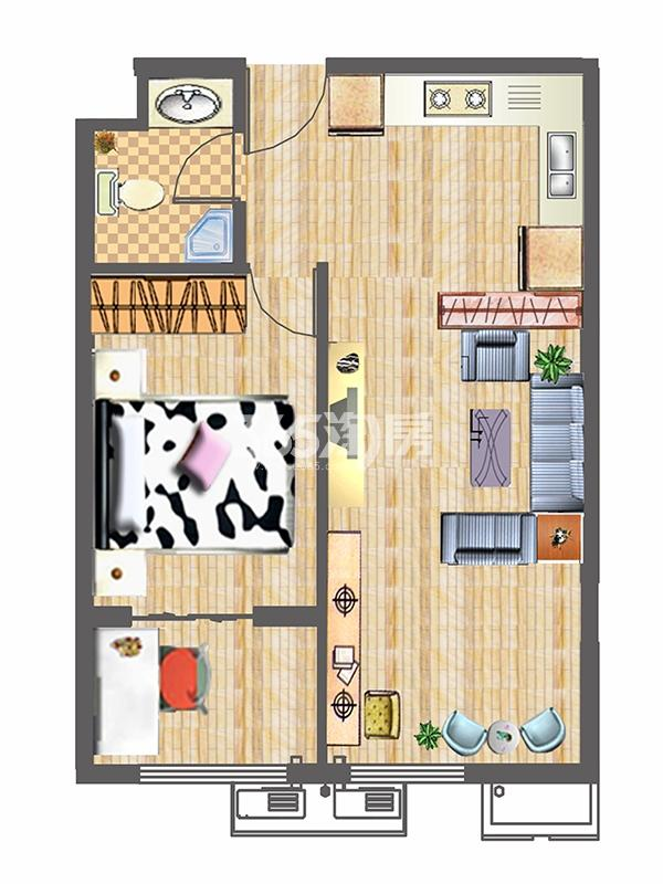 G2户型70㎡两室