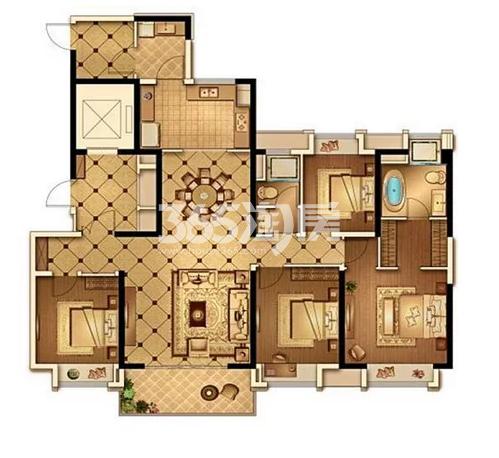 168平户型 4室2厅2卫