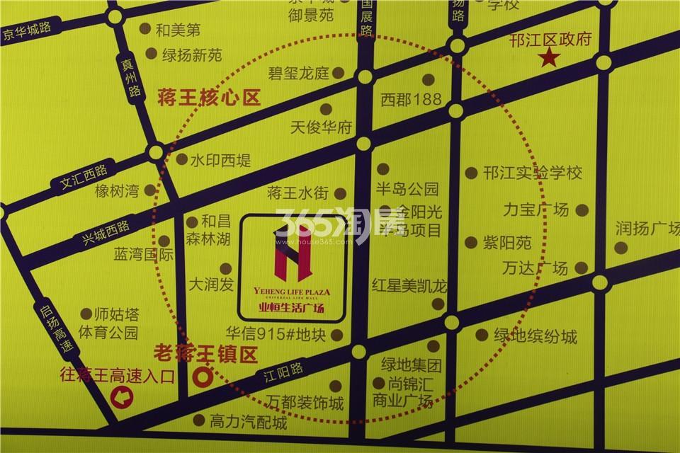 业恒生活广场交通图