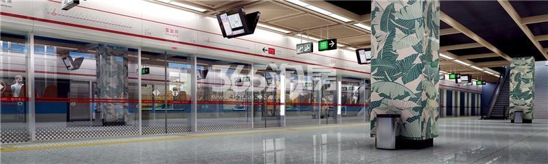 地铁一号线南延线雪浪站(在建)效果图