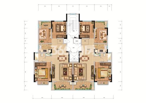 万鑫·御园(住宅)户型图
