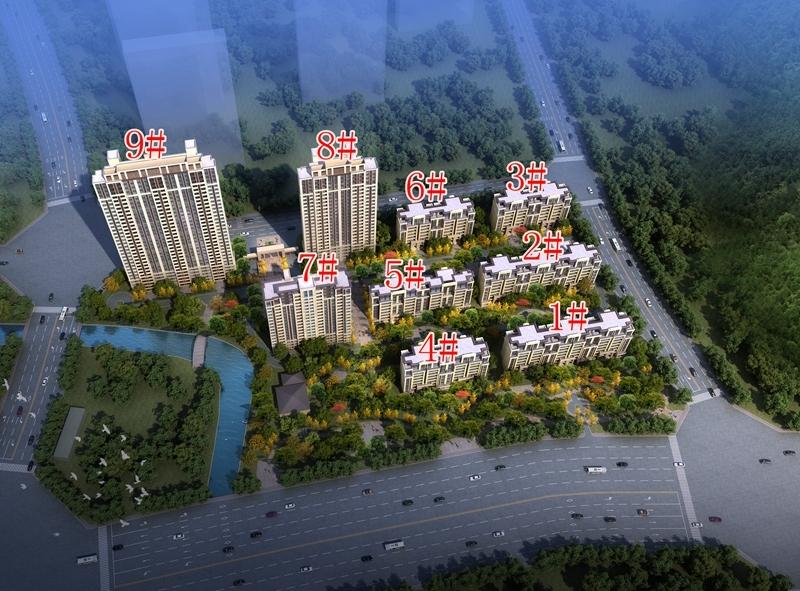 中海熙岸华府项目鸟瞰图